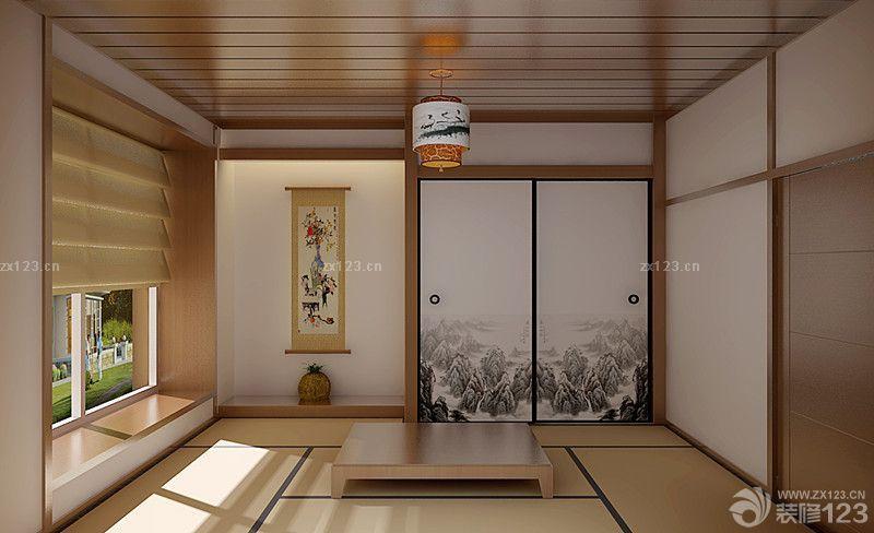 日式风格三室两厅木地板飘窗装修效果图片