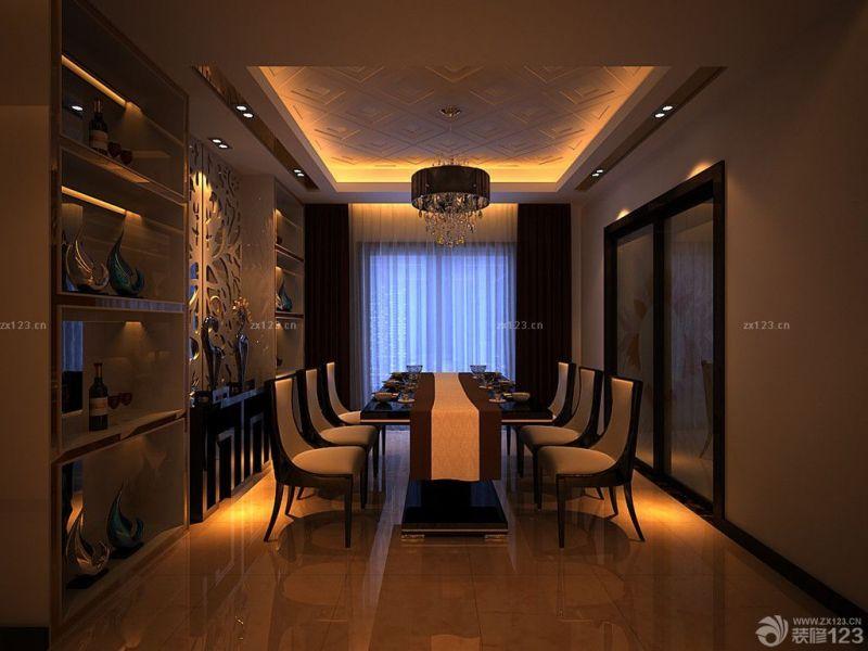 新古典风格餐厅博古架装修效果图