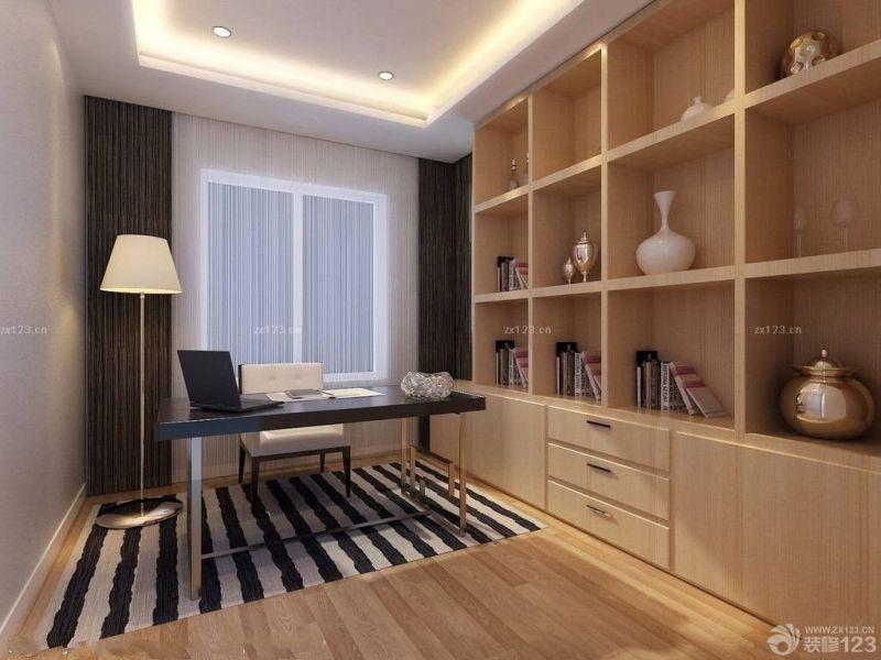 现代时尚7平米书房家用书柜装修效果图片大全
