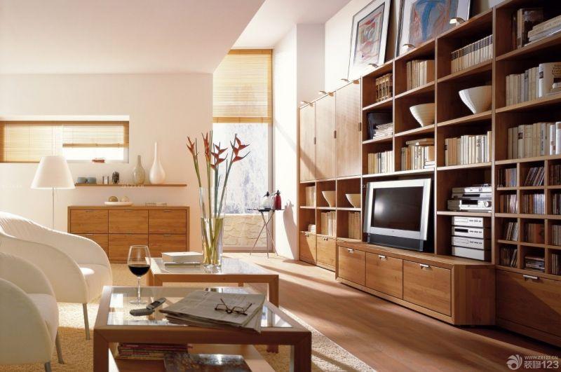 2020现代温馨家装实木电视柜设计效果图欣赏